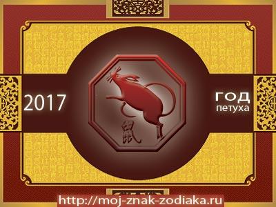 Крыса - гороскоп восточный на 2017 год Петуха