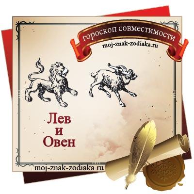 Лев и Овен - гороскоп на совместимость