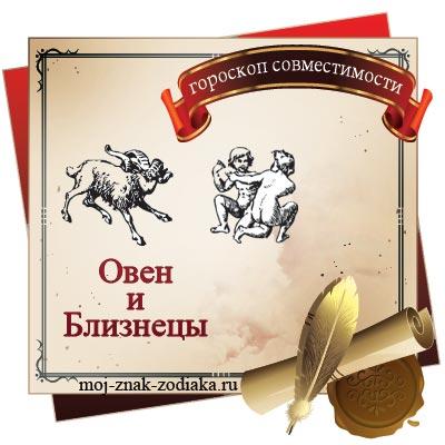 Овен и Близнецы - гороскоп на совместимость