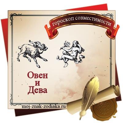 Овен и Дева - гороскоп на совместимость